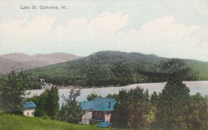 LAKE ST. CATHERINE, Vermont, 1900-1910s; Aerial View