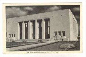 War memorial Building, Jackson, Mississippi, pU 1942