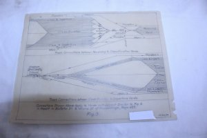 Vintage 1954 Drawing on Trace Paper of Grand Trunk Railroad Track Yard Fig 3