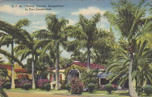 Pretty Florida Bungaloes In Fort Lauderdale Miami Florida Curteich