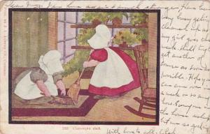 Sunbonnet Girls Cleaning Day 1908