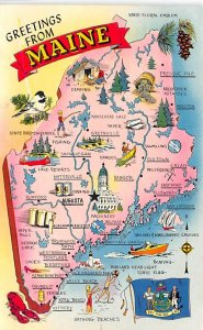 Maps Maine USA 1963