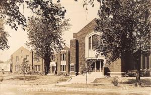 Vermillion South Dakota~Methodist Church~Shell Gas Billboard~1930s RPPC