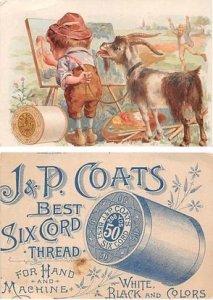 Victorian Trade Card Approx size inches = 2.75 x 3.75 Pre 1900 crease top edge