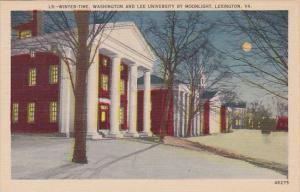 Winter Time Washington And Lee Univeristy By Moonlight Lexington Virginia