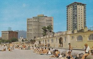 English Bay Beach, Sun Bathers, Vancouver, British Columbia, Canada, 40´s-60´s