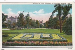 Oklahoma Norman Entyrance To Oval University Of Oklahoma 1947 Curteich