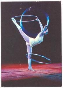Russian Circus act: Hoop twirling contortionist Tamara Simonenko, 1979