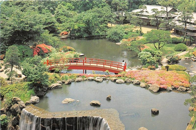 BG9703 the new otani 10 acre classical japanese garden japan