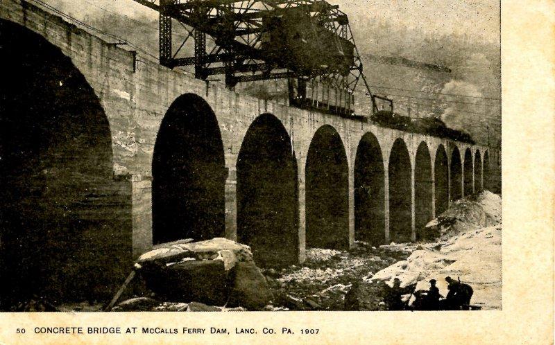 PA - Lancaster County. Concrete Bridge at McCalls Ferry Dam