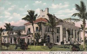 Florida Palm Beach White Hall South and East View 1907