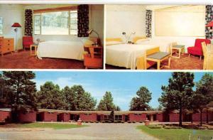 Newton Mississippi Woodland Court Multiview Vintage Postcard K38890