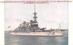 US Battleship Massachusetts, Philadelphia, PA, USA Military Battleship Unused