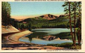 Yellowstone National Park Sylvan Lake and Top Notch Peak Curteich
