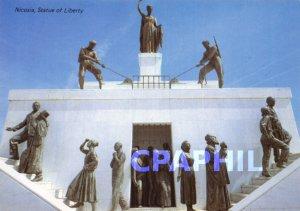 Modern Postcard Statue of Liberty, Nicosia.