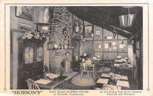 Norwalk Connecticut~Boston Post Road Coffee House~Interior~Fireplace~1930s B&W