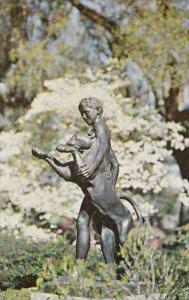 South Carolina Murrells Inlet Boy And Panther By Rudulph Evans Brookgree Gardens