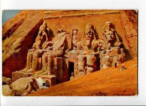 271263 EGYPT WUTTKE Temple in rocks Vintage postcard