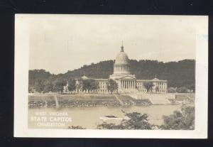 RPPC CHARLESTON WEST VIRGINIA STATE CAPITOL VINTAGE REAL PHOTO POSTCARD