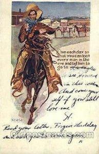 Western Cowboy, Cowgirl 1907