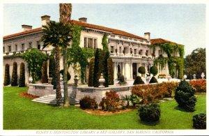 California San Marino The Henry E Huntington Library & Art Gallery 1955 Curteich