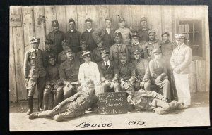 Mint Czechoslovakia Legion Real Picture Postcard RPPC Levice Station 1919