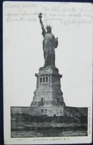 Statue Of Liberty NYC Illustratred Postcard Co #110 1906