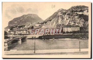 Old Postcard Grenoble Isere view Neron helmet and Forts