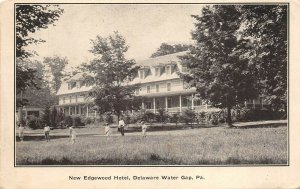 Delaware Water Gap Pennsylvania 1920s Postcard New Edgewood Hotel Golfers