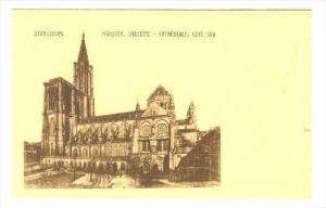 Cathedrale, Cote Sud, Munster, Sudseite, Strassburg (Bas Rhin), France, 1900-...