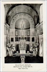 RPPC, Christ Church, Methodist, NYC