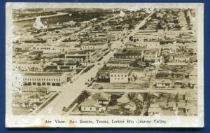 San Benito Texas tx Air View real photo postcard RPPC #2