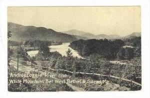 Androscoggin River & White Mountains between West Bethel & Gilead, Maine, 190...