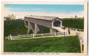 Covered Bridge, Chandler, Gaspe Que