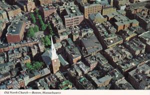 Aerial View Of The Historic Old North Church Salem Street Boston Massachusett...