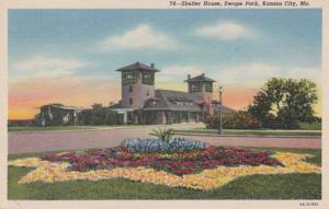 Missouri Kansas City Shelter House Swope Park 1948 Curteich