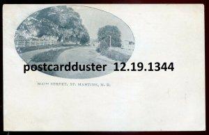 1344 - ST. MARTINS New Brunswick Postcard 1900s Main Street