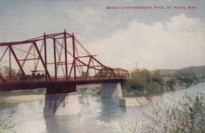 ST. PETER , Minnesota , 1900-10s ; Bridge over Minnesota River