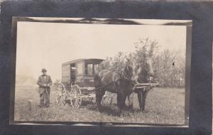 RP: CANBY , Minnesota , 1914 ; Horse Drawn Remedies Medical Wagon