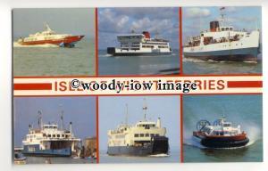 f0936 - 6 Isle of Wight Ferries - multiview postcard
