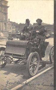 Frankfort IN New Runabout Auto Car 1906 Street View RPPC Postcard