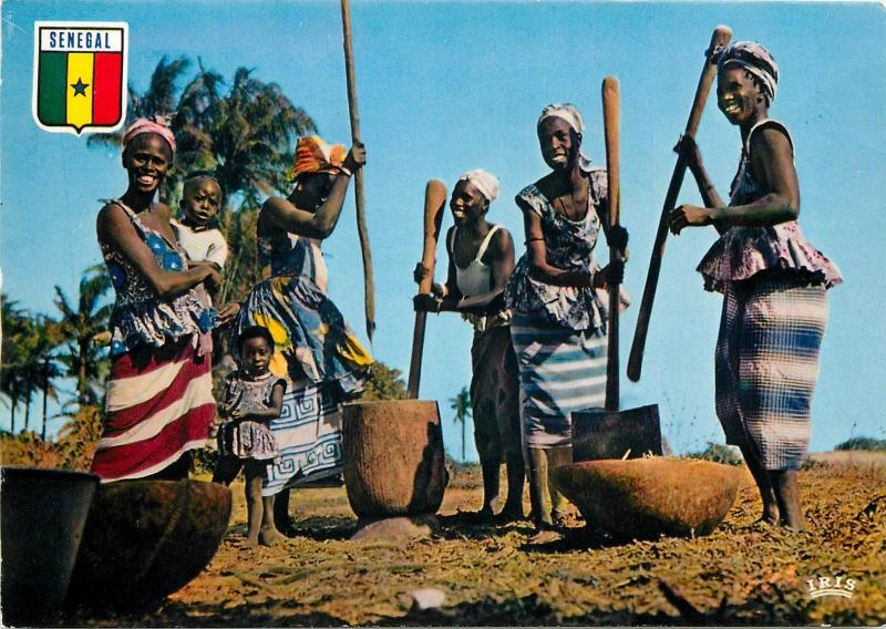 Republic of Senegal village scene