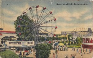 AMUSEMENT PARK, Cincinnati, OH, Coney Island Mall, 1946, Ferris Wheel, Coca Cola