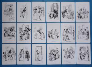 NEW Set of 18 Mini Postcards Illustrations from Sense & Sensibility Jane Austen