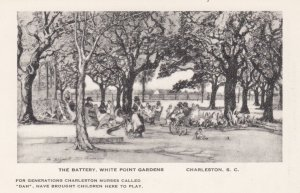 CHARLESTON, South Carolina, 1940-1950's; The Battery, White Point Gardens, By...