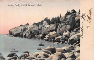 Maine, Rocky Coast, Squirrel Island, Early Postcard, used in 1911