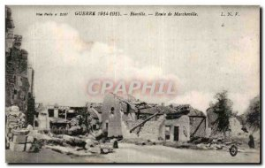 Postcard Old War Riaville Road Marcheville Army