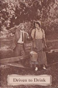 Romantic Couple Driven To Drink 1911