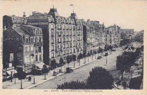Place d'Erlon Vers l'Eglise St-Jacques, Reims (Marne), France, 1900-1910s