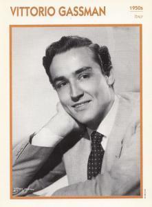 Vittorio Gassman Astrology Italy Actor Rare Italian 8 x 5 Film Photo Card